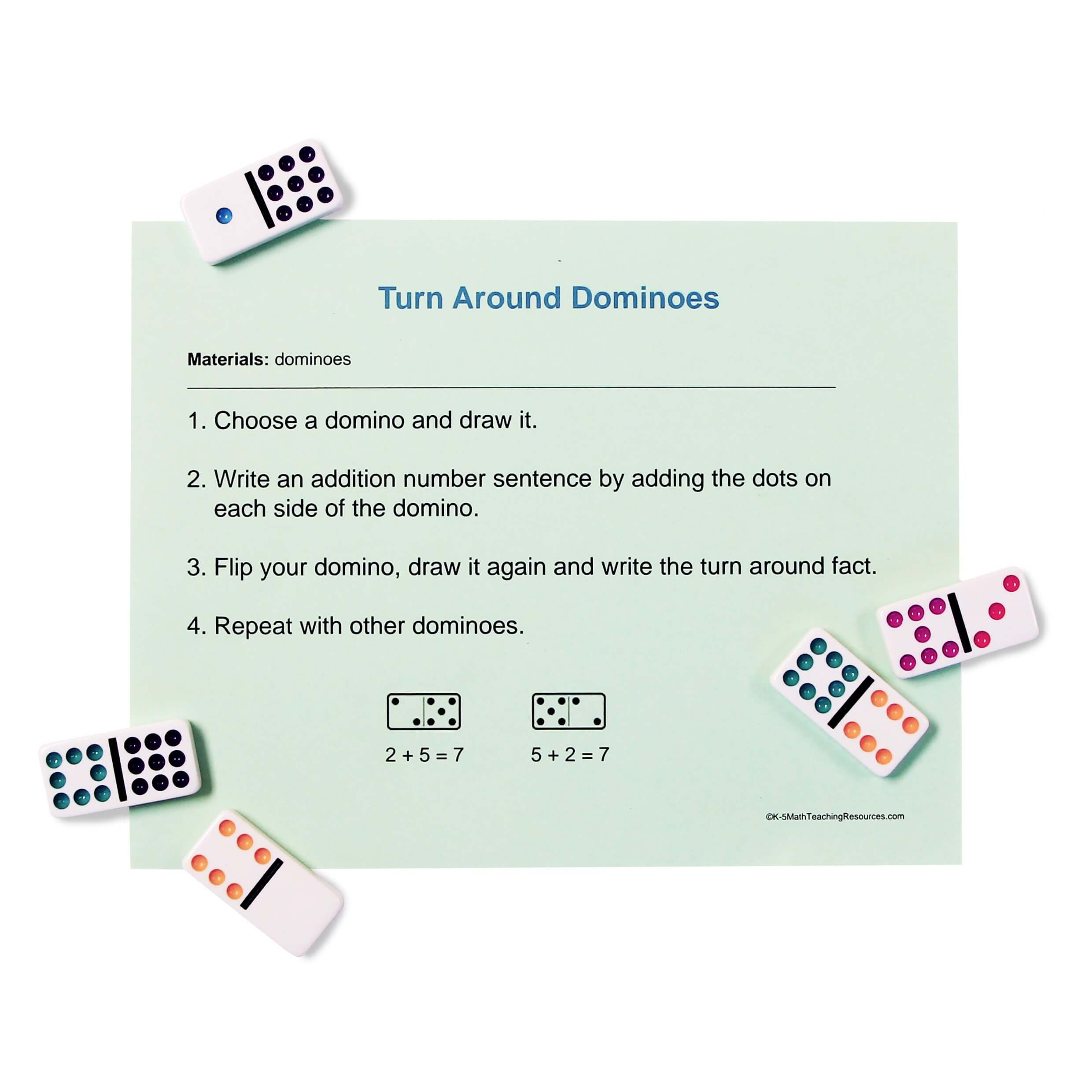 1.OA.B.3 Turn Around Dominoes