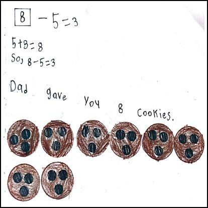 1st Grade Math Journal Task 8