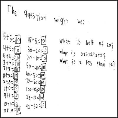 1st Grade Math Journal Task 13
