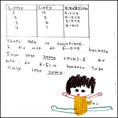 1st Grade Math Journal Task 3