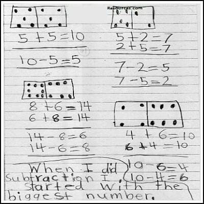 1st Grade Math Journal Task 30