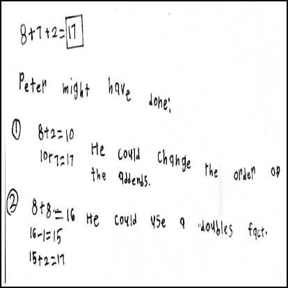 1st Grade Math Journal Task 35