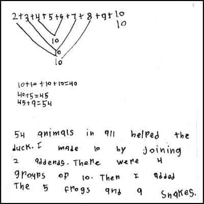 1st Grade Math Journal Task 53