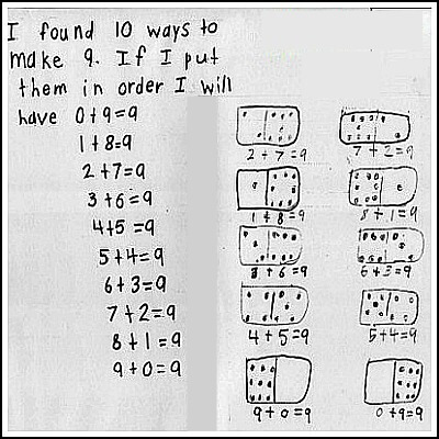 1st Grade Math Journal Task 54