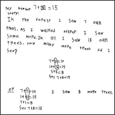 1st Grade Math Journal Task 62
