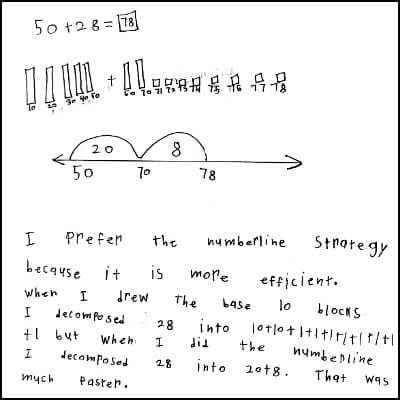 1st Grade Math Journal Task 87