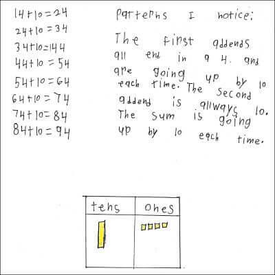 1st Grade Math Journal Task 88