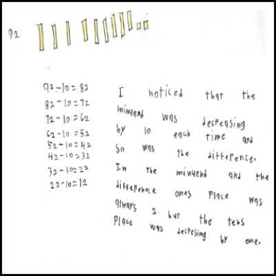 1st Grade Math Journal Task 89