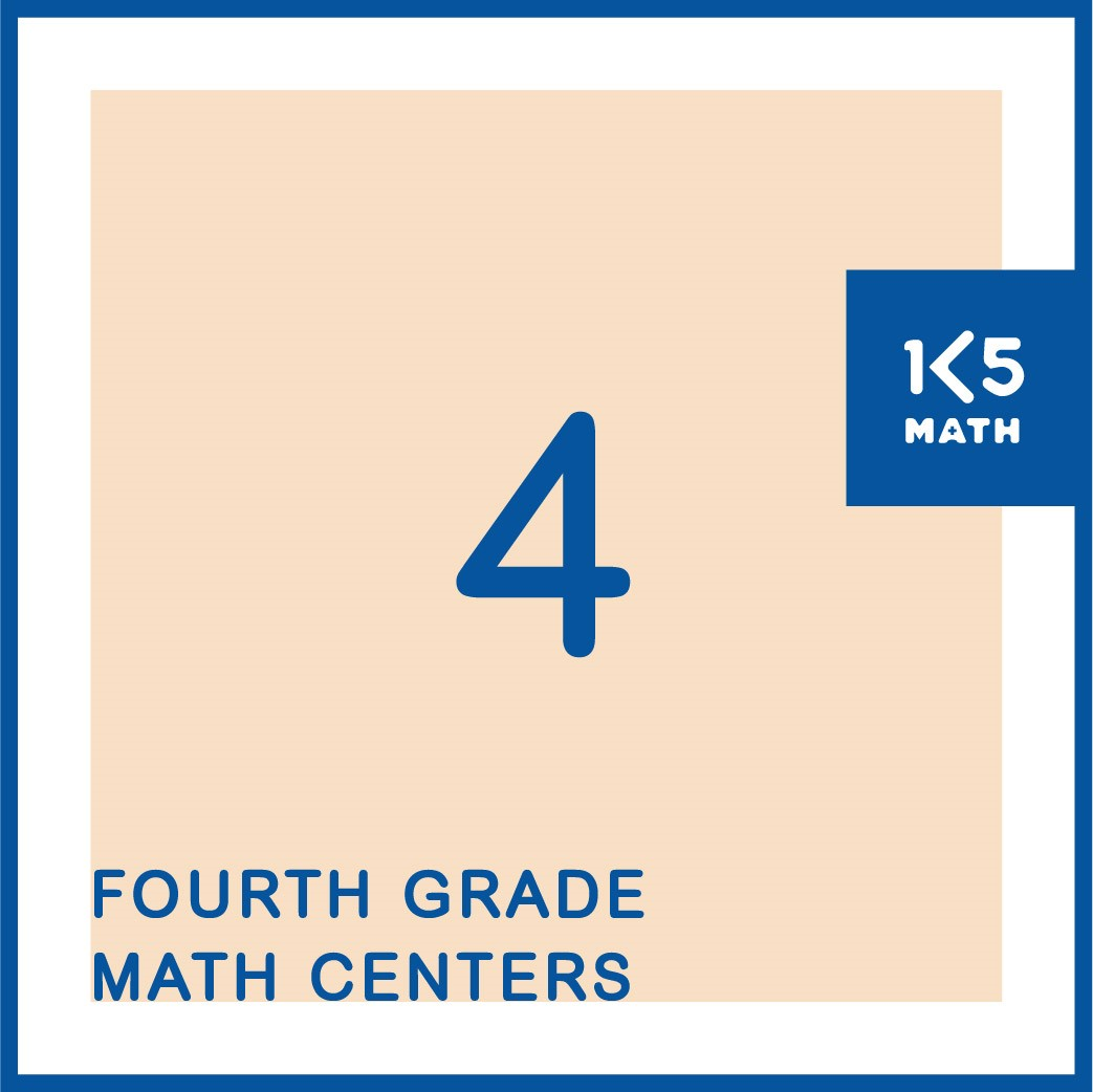 Over 140 4th Grade Math Centers for Number, Geometry, Measurement and Data.