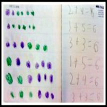 Student Work: Kindergarten Math Journal task