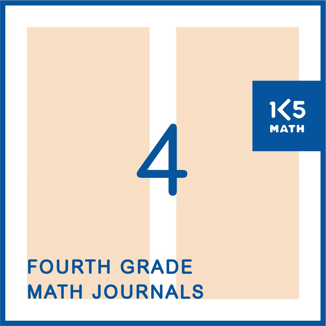 4th Grade Math Journals: Available in English and Spanish
