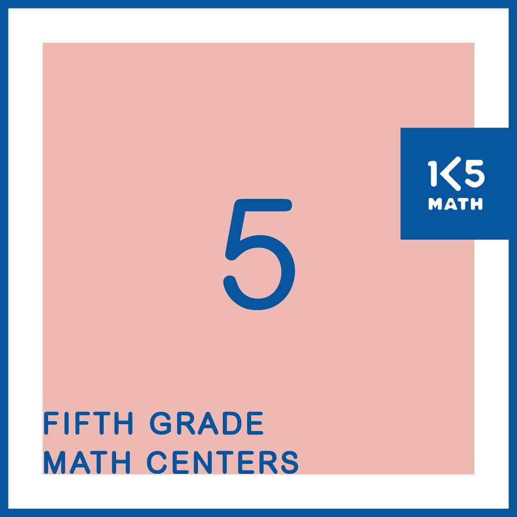 All the 5th Grade Math Centers you'll need for the entire school year
