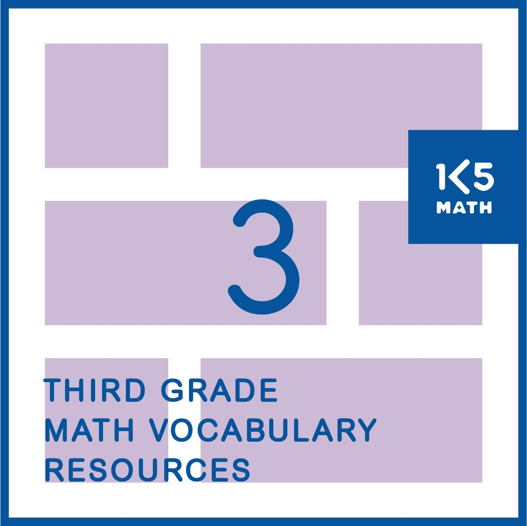 3rd Grade Math Vocabulary Resources