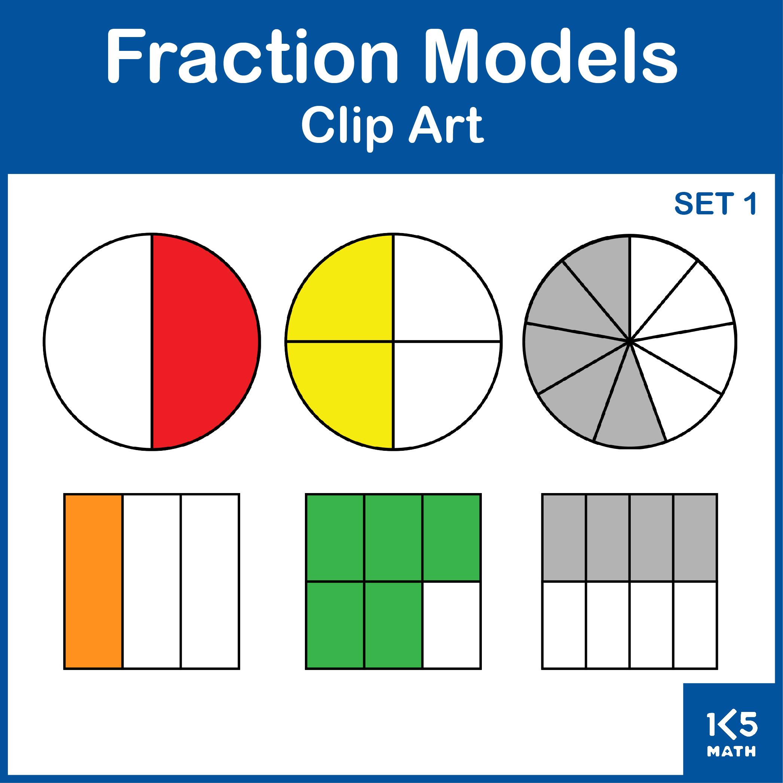 Fraction Models Clip Art set