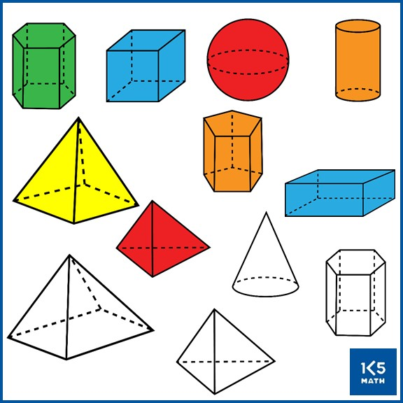 2D and 3D Shapes Clip Art Set contains over 330 images for your educational resources.