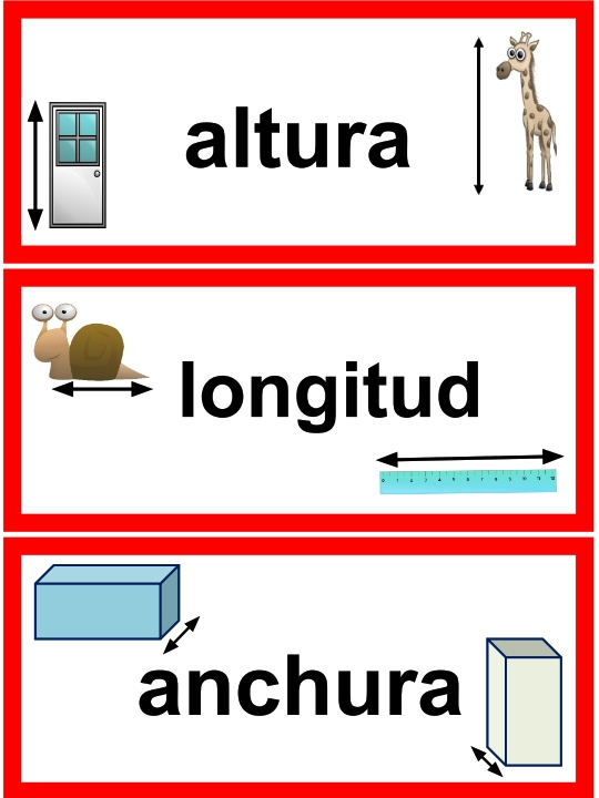 2nd Grade Spanish Math Vocabulary