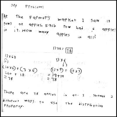 3rd Grade Math Journal Task 14