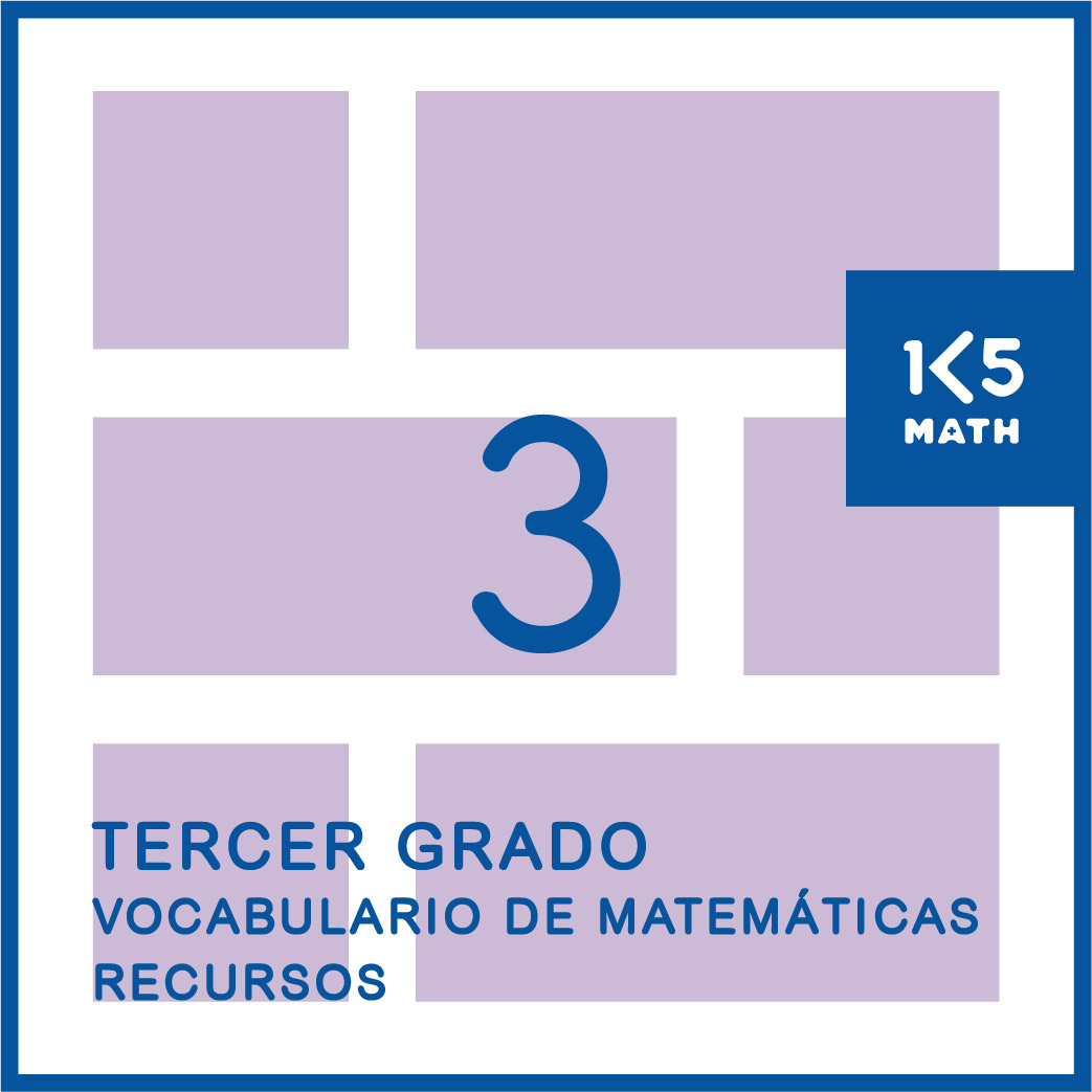 3rd Grade Math Vocabulary Resources: Spanish