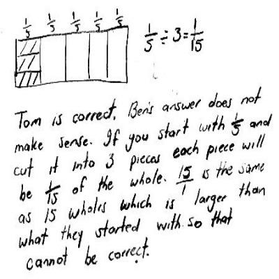 5th Grade Math Journal Task