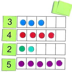 K.CC.B.4  Five Frame Numeral Match
