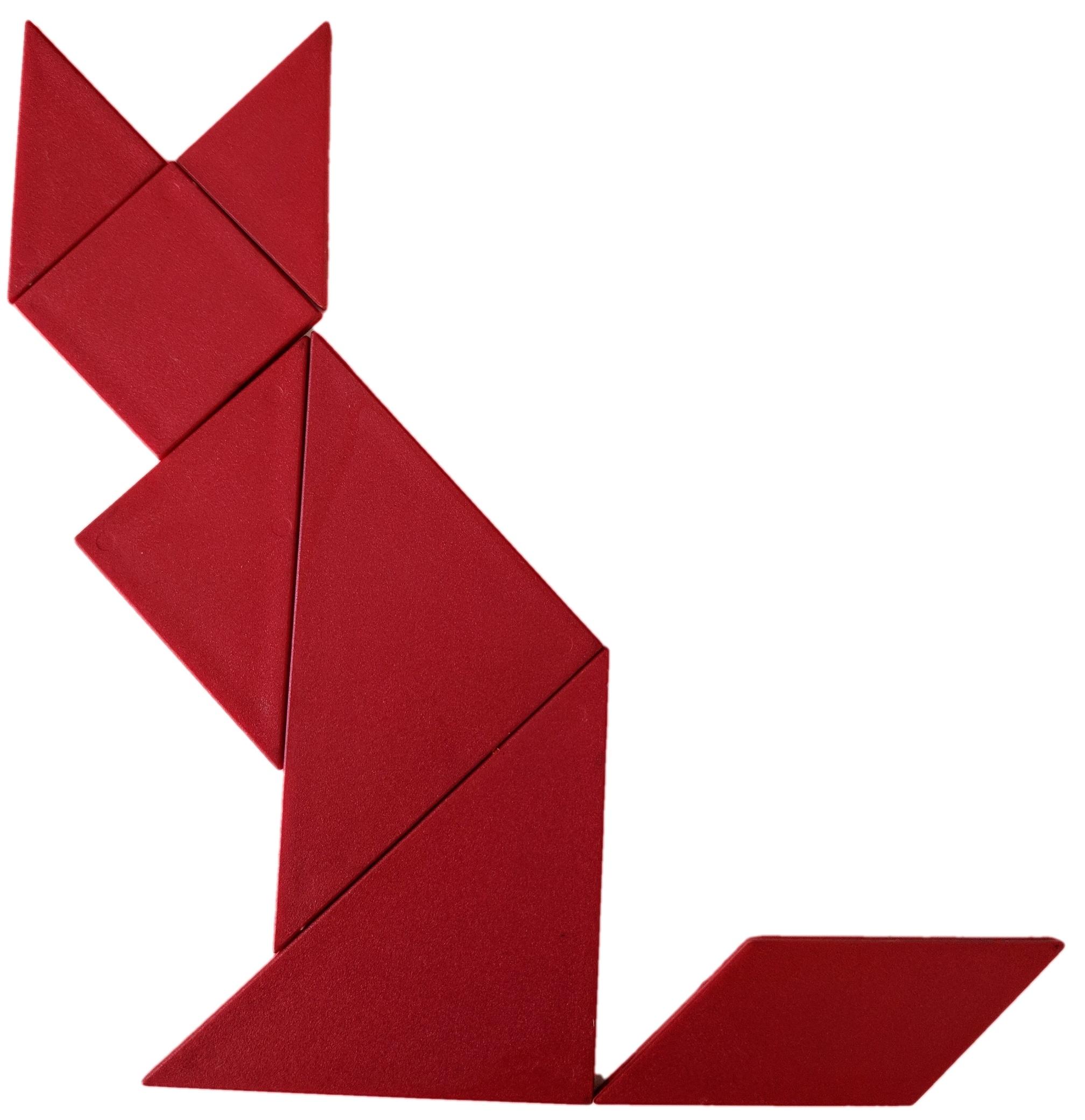 1st Grade Geometry: Tangram Cat