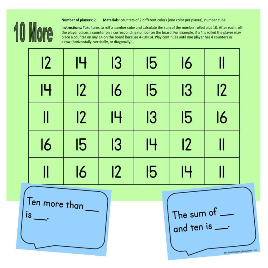 1st Grade Number - 1.NBT.C.5 10 More