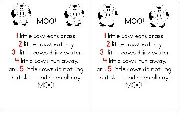 Student size counting rhyme-Moo