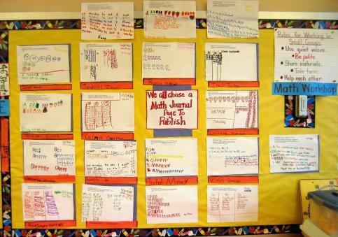 Math Journal work display