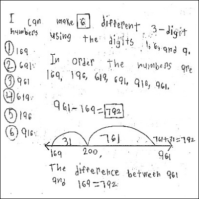 3rd Gd Math Journal Task 71