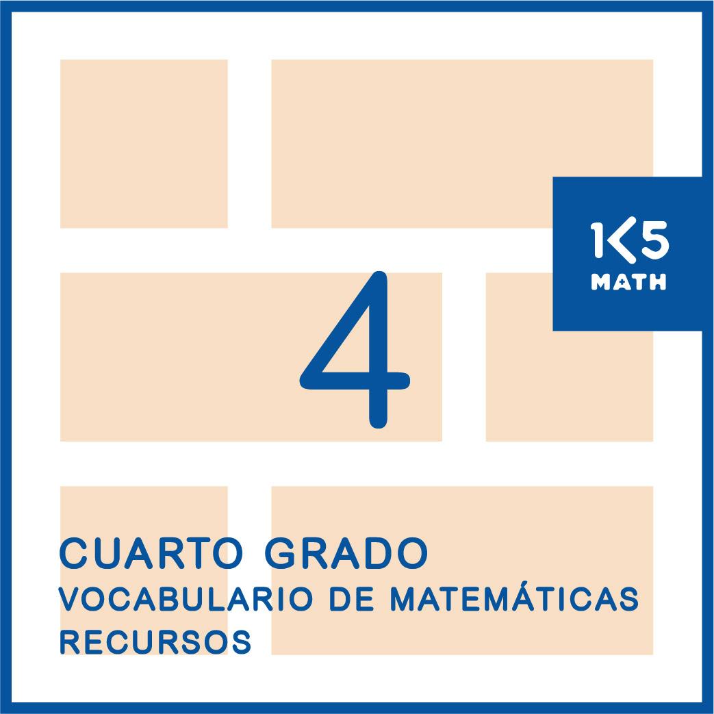 4th Grade Math Vocabulary Resources: Spanish