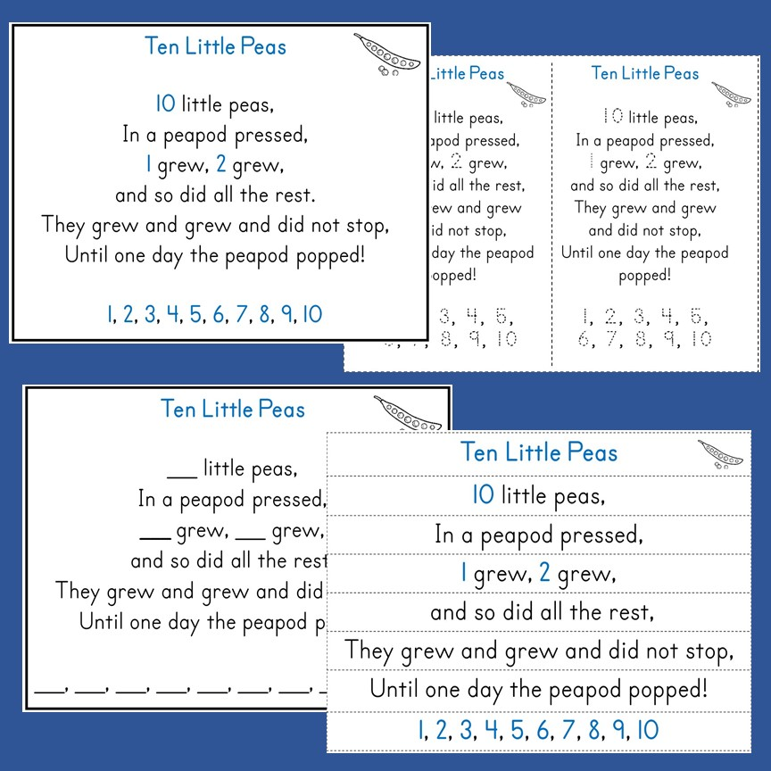 Counting Rhymes: Ten Little Peas