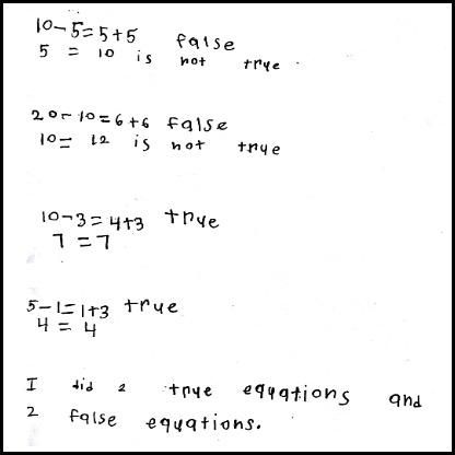 1st Grade Math Journal Task 31