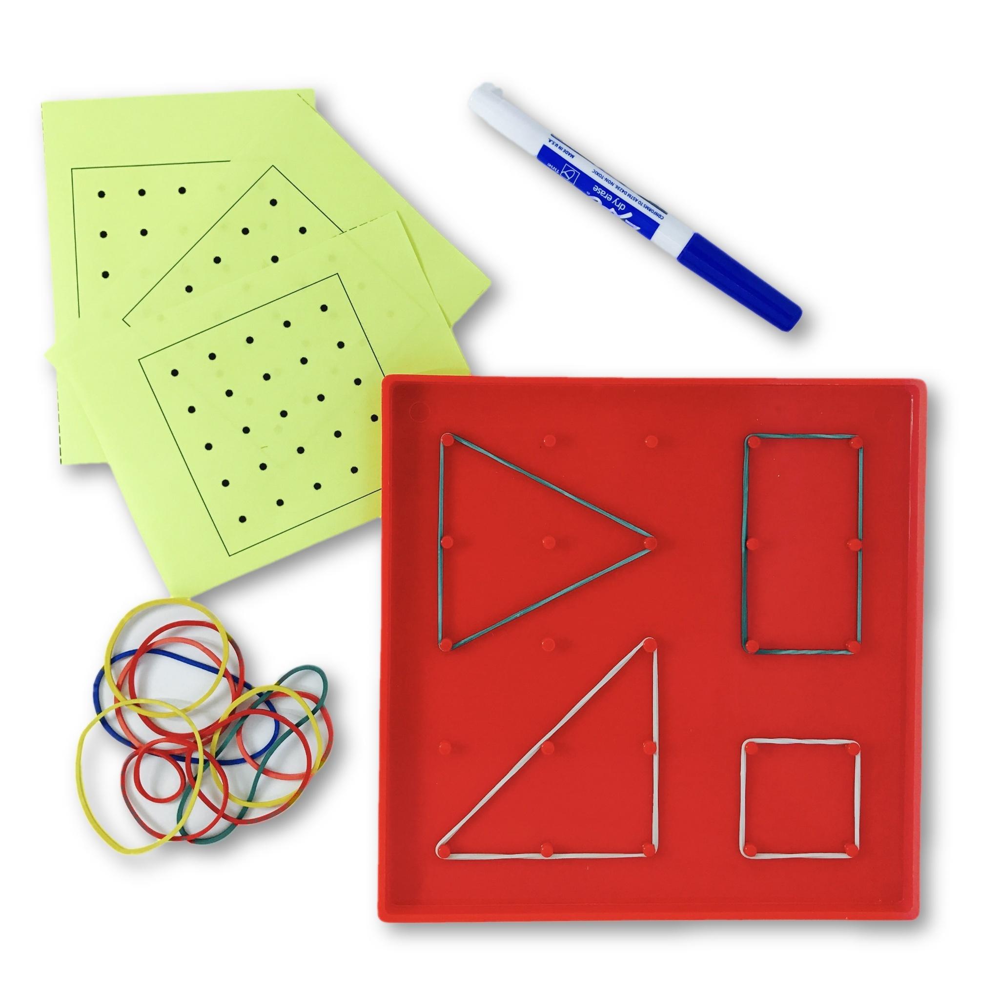 Kindergarten Geometry - Shapes on the Geoboard