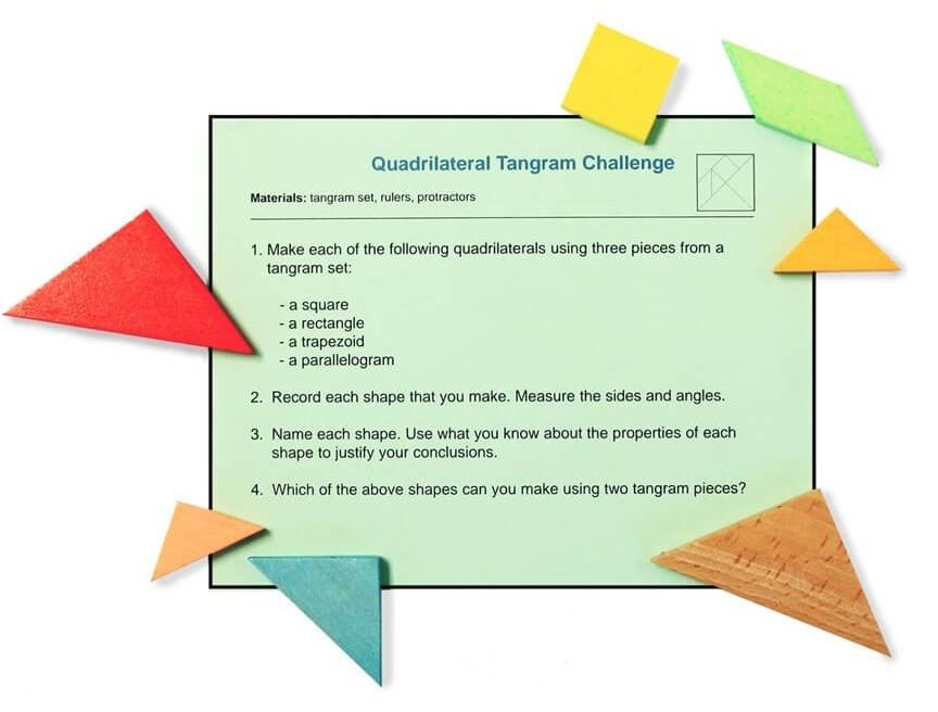 5.G.B.3 Quadrilateral Tangram Challenge