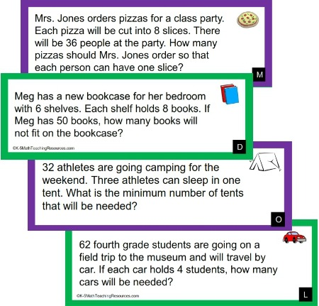 4th Grade Number Activities