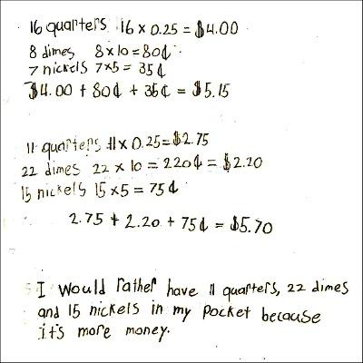 4th Grade Math Journal Task 121