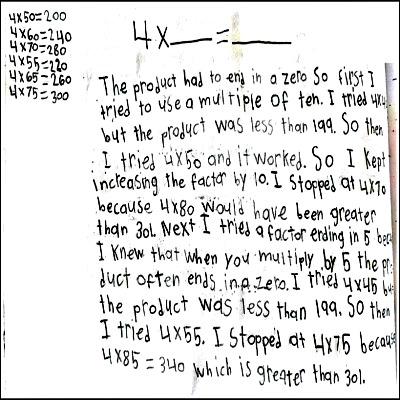 4th Grade Math Journal Task 30
