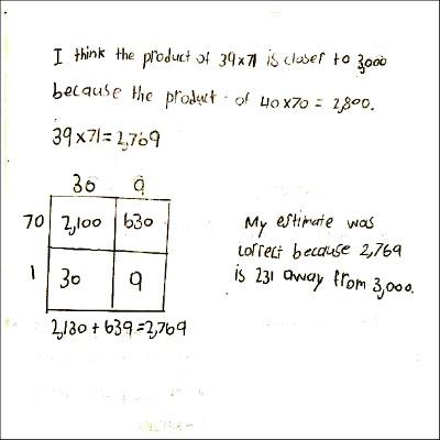 4th Grade Math Journal Task 54