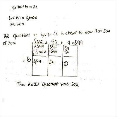 4th Grade Math Journal Task 62