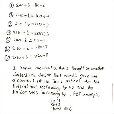 4th Grade Math Journal Task 64