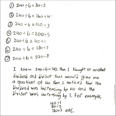 4th Grade Math Journal Task 64