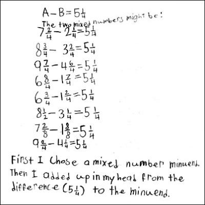 4th Grade Math Journal Task 85