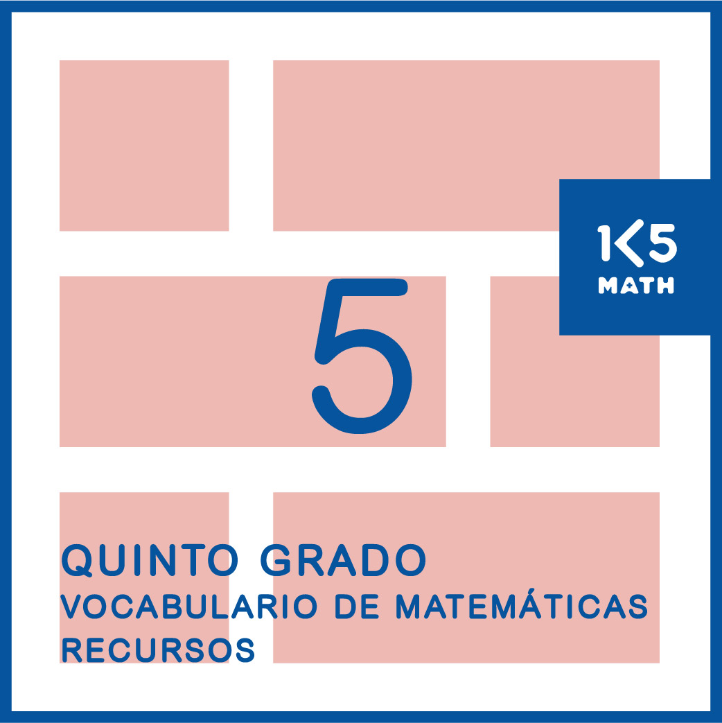 5th Grade Math Vocabulary Resources: Spanish