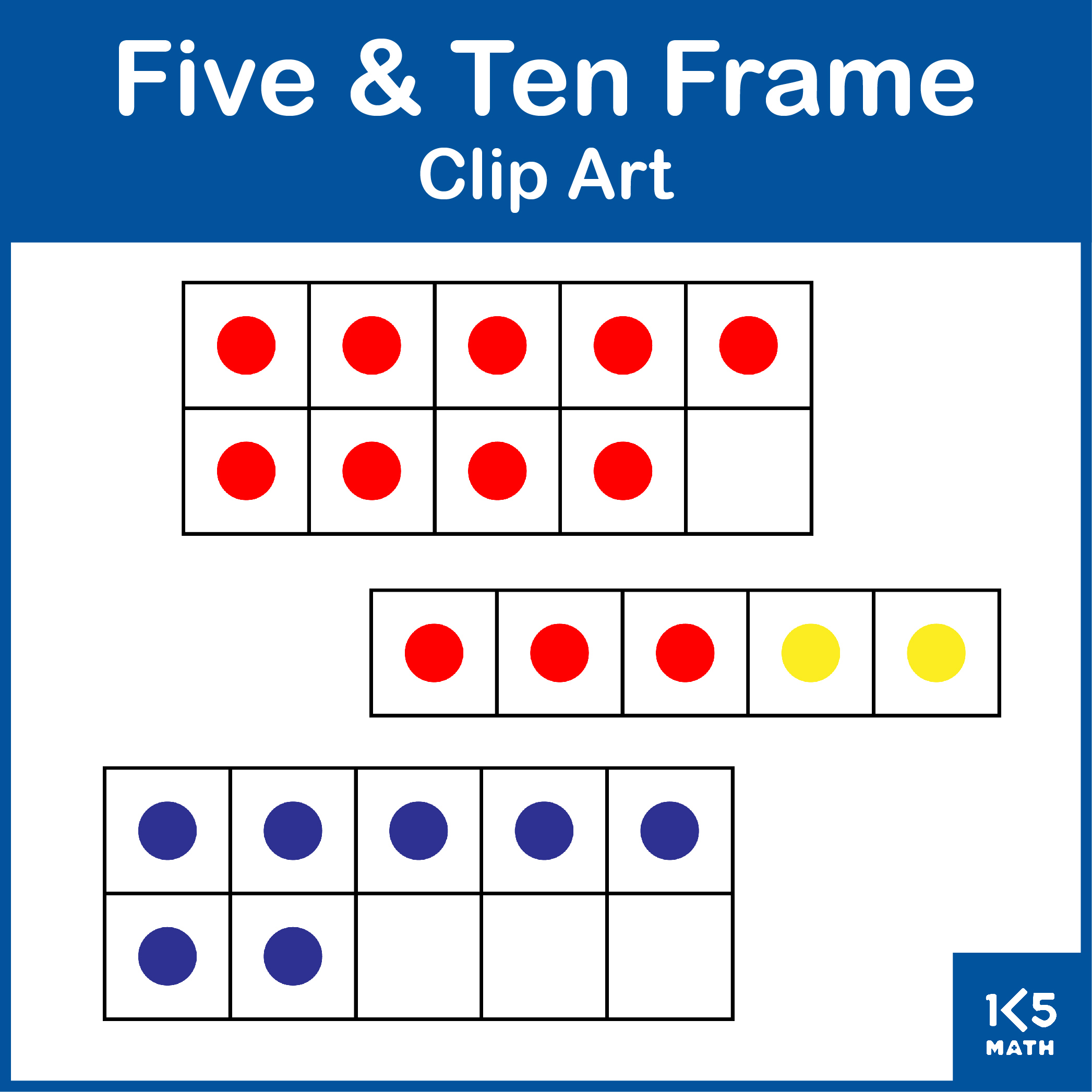 Five and Ten Frames Clip art