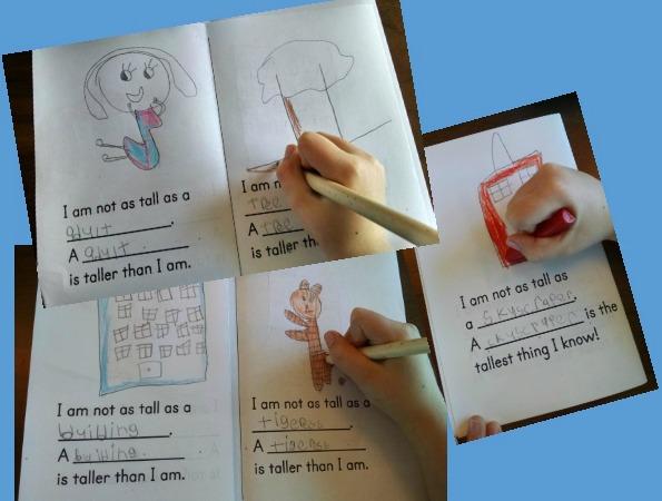 Kindergarten Measurement: What is Tall? book template