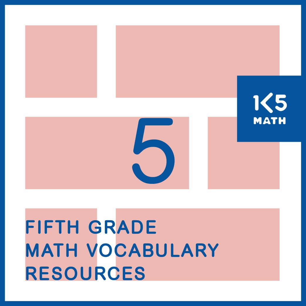 5th Grade Math Vocabulary Resources