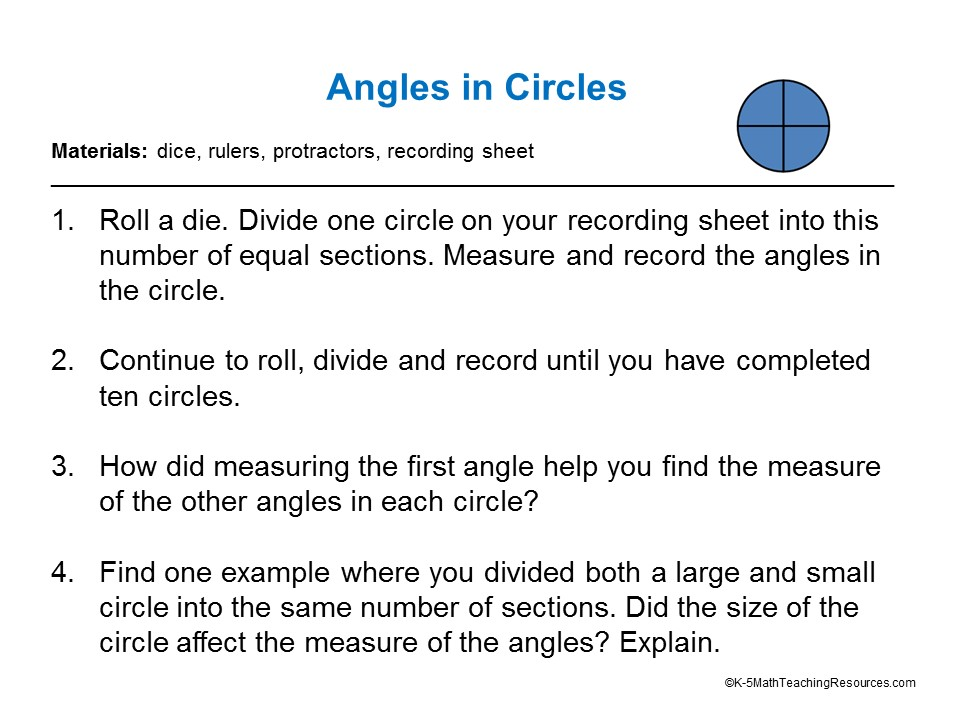 Angles in Circles 4.MD.5