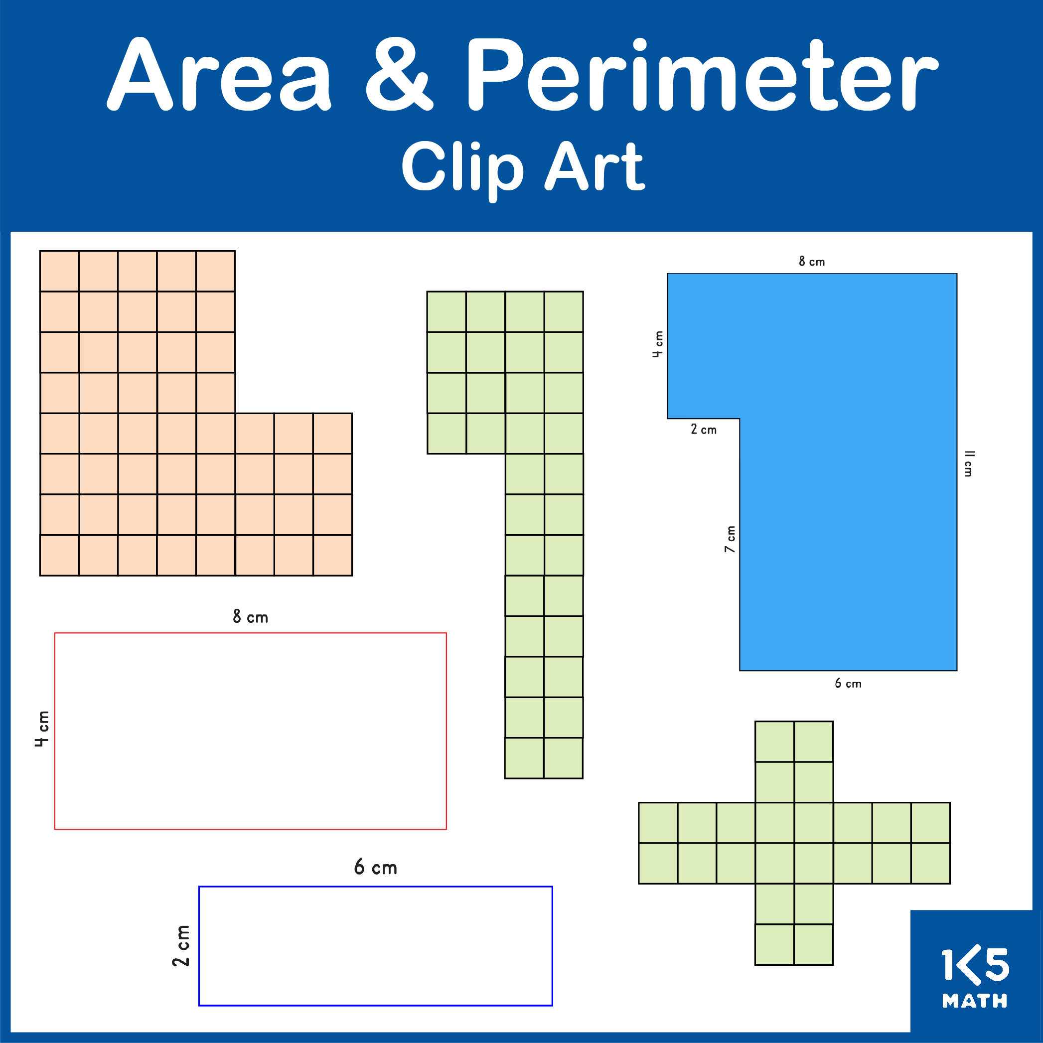 Area and Perimeter Clip Art