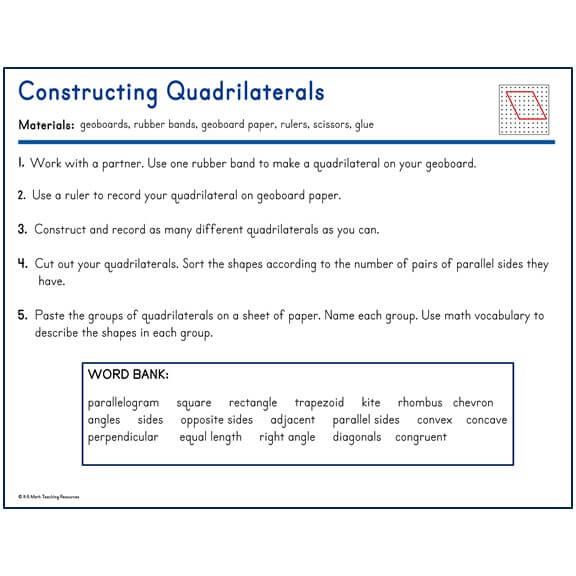 Constructing Quadrilaterals