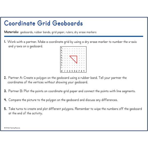 Coordinate Grid Geoboards